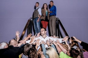 Jason Gabriel (center), Thomas Brooke, Kelly Rose Thompson and Michael Alexander (center) in Countryside Community Theatre's Jesus Christ Superstar