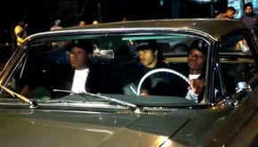 Corey Hawkins, O'Shea Jackson Jr., and Jason Mitchell in Straight Outta Compton