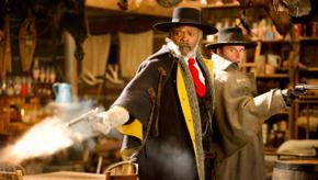 Samuel L. Jackson and Walton Goggins in The Hateful Eight