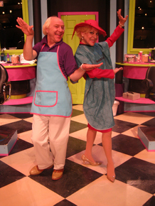 Tom Walljasper and Carrie SaLoutos in Shear Madness
