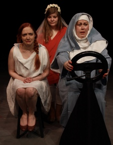 Stephanie Moeller, Sydney Dexter, and Karrie McLaughlin in Mama Won't Fly