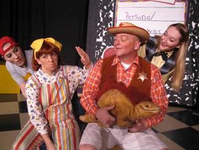 Kirsten Sindelar, Sunshine Ramsey, Janos Horvath, and Brooke Schelly in Junie B. Jones: The Musical
