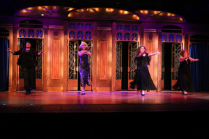 Whitney Hayes, Sarah Hayes, Megan Opalinski, and Donnalynn Waller in Menopause: The Musical