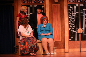 Sarah Hayes, Megan Opalinski, Donnalynn Waller, and Whitney Hayes in Menopause: The Musical
