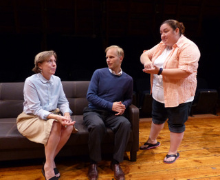 Jackie Patterson, Jonathan Grafft, and Dana Skiles in Flowers for Algernon