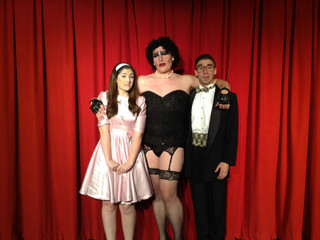Leslie Munson, Dion Stover, and Joey Boos in The Rocky Horror Show