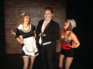 Becca Meumann-Johnson, Nicholas Munson, and Sara Tubbs in The Rocky Horror Show