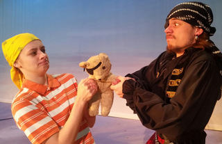 Cydney Roelandt and Anthony Natarelli in Jingle Arrgh the Way