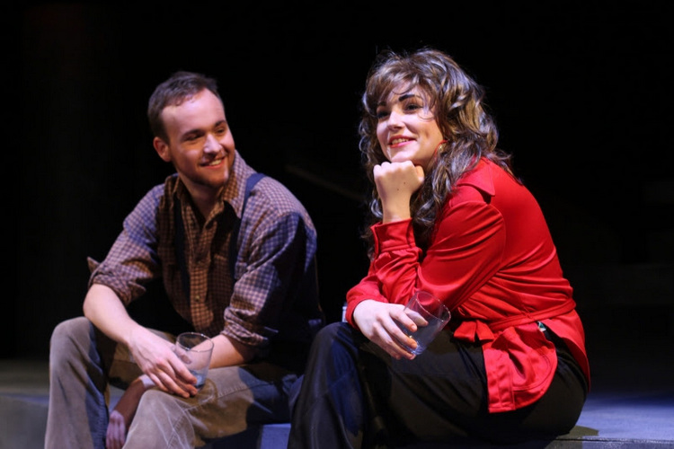 Tristan Odenkirk and Sarah Baker in Crimes of the Heart