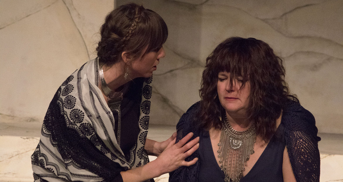 Beth Woolley and Denise Yoder in Coriolanus