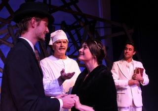 Zack Hendershott, Tom Naab, Sara Tubbs, and Tommy Ratkiewicz-Stierwalt in A Christmas Carol