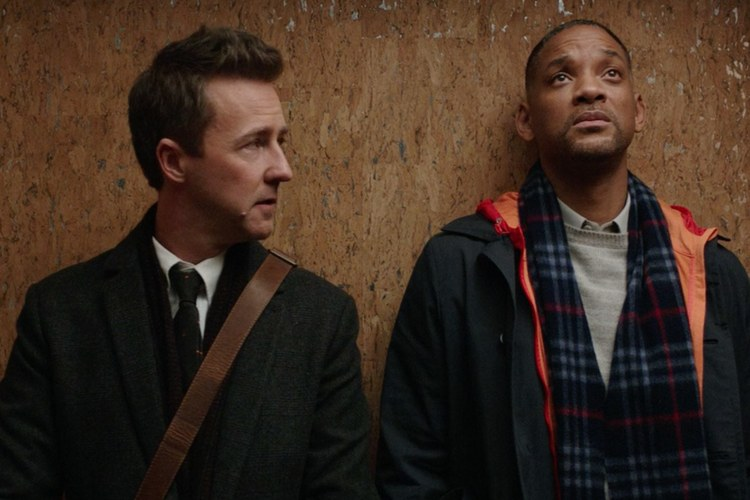 Edward Norton and Will Smith in Collateral Beauty