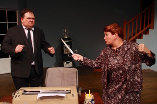 Jason Dlouhy and Nancy Teerlinck in Deathtrap