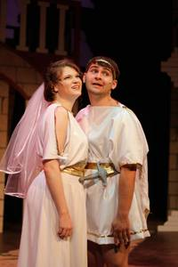 Elya Faye Bottiger and Chandler Smith in A Funny Thing Happened on the Way to the Forum