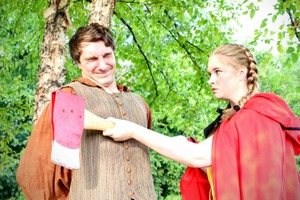 Cole Harksen and Noel Huntley in Into the Woods