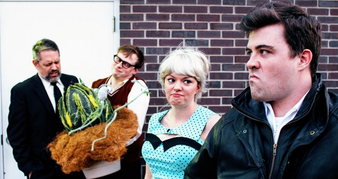 Joe Urbaitis, Andy Sederquist, Abbey Donohoe, and Rob Keech in Little Shop of Horrors