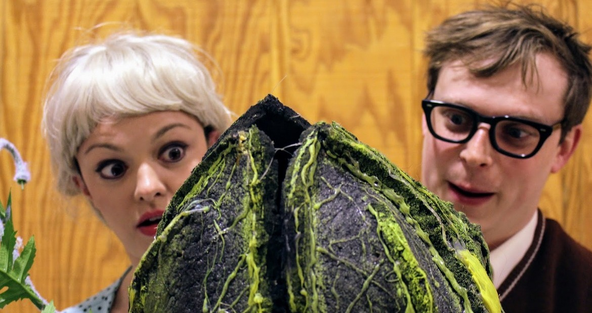 Abbey Donohoe and Andy Sederquist in Little Shop of Horrors