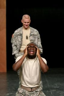 Keenan Odenkirk and Debo Balogun in Othello