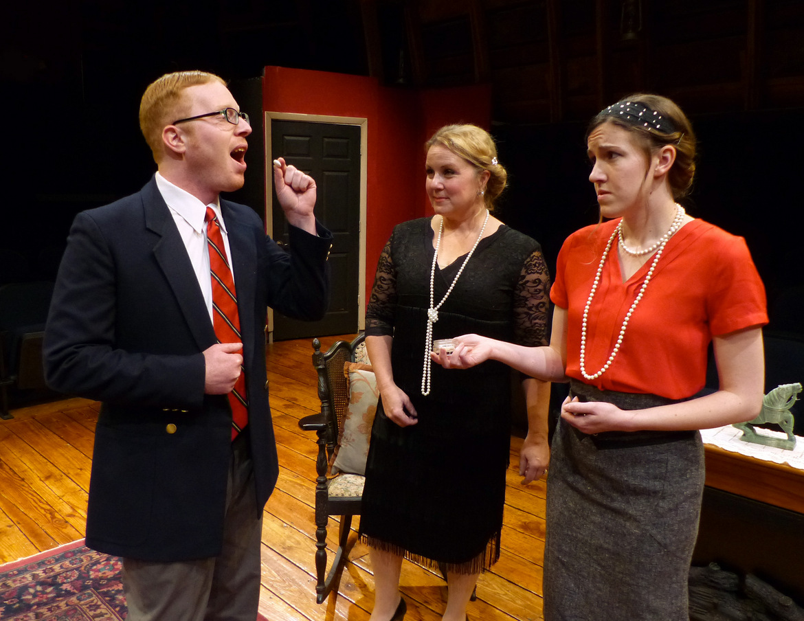 James Amble, Stacy Herrick, and Elizabeth Buzard in Out of Sight, Out of Murder