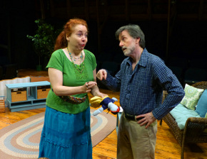 Pamela Briggs and Tom Vaccaro in Vanya & Sonia & Masha & Spike