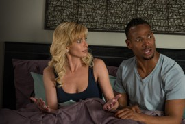 Jaime Pressly and Marlon Wayans in A Haunted House 2