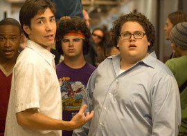 Justin Long and Jonah Hill in Accepted