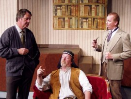 Mark McGinn, John VanDeWoestyne, and Harold Truitt in My Fair Lady