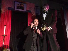Jason Platt and Sara Wegener in The Addams Family