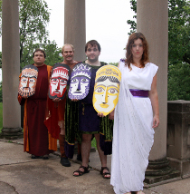Jason Dlouhy, Bob Hanske, Doug Adkins, and Katie Ross in Alcestis