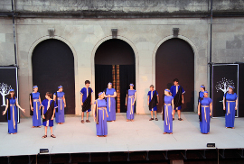 chorus members in Genesius Guild's Alcestis