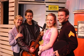 Melissa Anderson Clark, Bryan Tank, Cara Chumbley, and Andy Gibb Clark in All Shook Up
