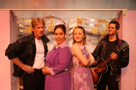 Mike Millar, Jackie Madunic, Cara Chumbley, and Bryan Tank in All Shook Up