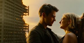 Theo James and Shailene Woodley in Allegiant