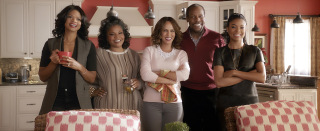 Kimberly Elise, Mo'Nique, Nicole Ari Parker, Danny Glover, and Gabrielle Union in Almost Christmas