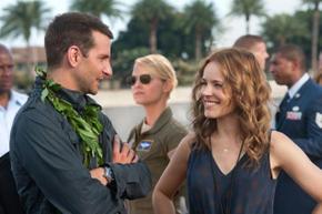 Bradley Cooper, Emma Stone, and Rachel McAdams in Aloha