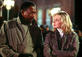 Morgan Freeman and Monica Potter in Along Came a Spider