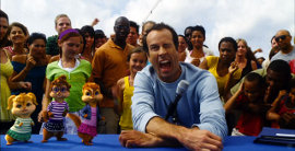 Jason Lee and friends in Alvin & the Chipmunks: Chipwrecked