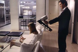 Chloe Sevigny and Christian Bale in American Psycho