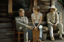 Robert Redford, Jennifer Lopez, and Morgan Freeman in An Unfinished Life
