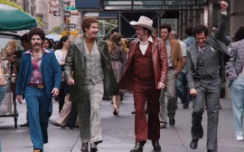 Paul Rudd, Will Ferrell, David Koechner, and Steve Carell in Anchorman 2: The Legend Continues