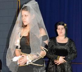 Analisa Percuoco and Sara Bolet in Crossing Acheron: The Tragedy of Antigone