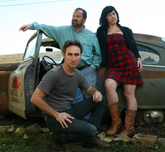 Mike Wolfe, Frank Fritz, and Danielle Colby-Cushman. Photo by Amy Richmond.