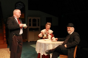 Bill Peiffer, Patti Flaherty, and Bill Bates in Arsenic & Old Lace