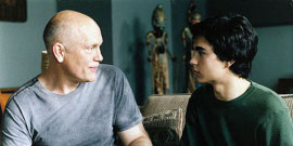 John Malkovich and Max Minghella in Art School Confidential