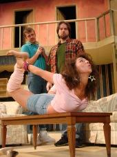 Ashley Catherine Schmitt, with Eddie Staver III and Adam Michael Lewis in Empty Nest