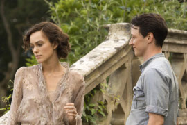 Keira Knightley and James McAvoy in Atonement
