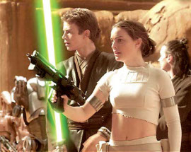Hayden Christensen and Natalie Portman in Star Wars, Episode III - Attack of the Clones