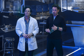 Mark Ruffalo and Robert Downey Jr. in Avengers: Age of Ultron