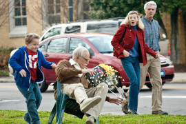 Jackson Nicoll and Johnny Knoxville in Bad Grandpa