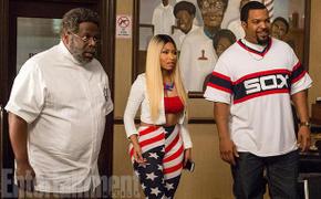 Cedric the Entertainer, Nicki Minaj, and Ice Cube in Barbershop: The Next Cut
